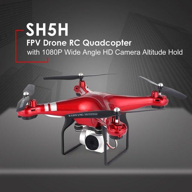 SH5H FPV Dron RC Quadcopter 1080P Wifi HD Camera Live Video Altitude Hold Mini dron Remote Control Helicopter RC Toy VS Syma x5c