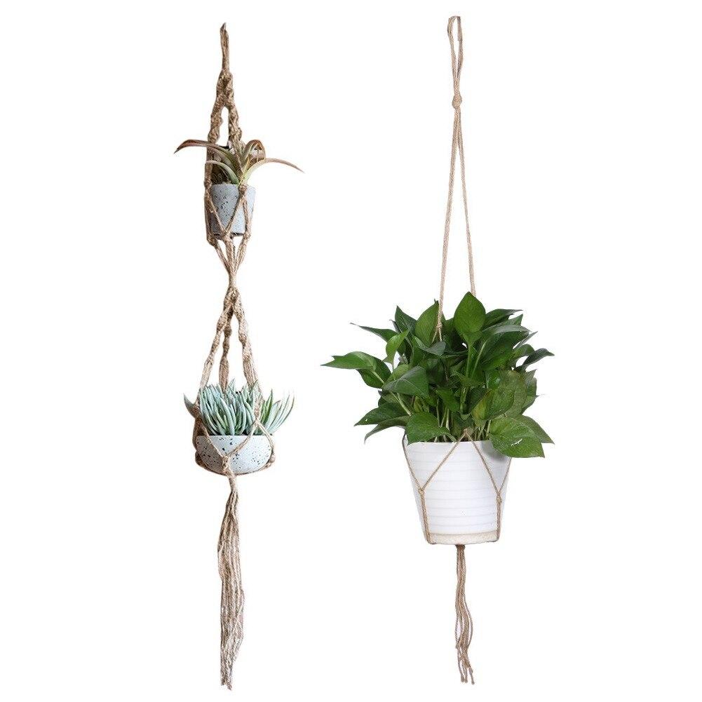 buy high quality macrame plant hanger flowerpot holder gardenpot lifting rope. Black Bedroom Furniture Sets. Home Design Ideas