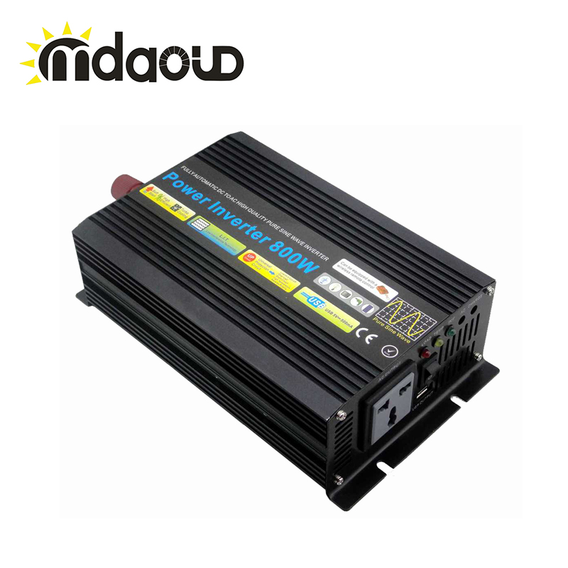 цена на LED Display Off Grid Solar Inverter 1000Watt/1KW 12/24/48VDC to 110/220VAC Pure Sine Wave Power Inverter