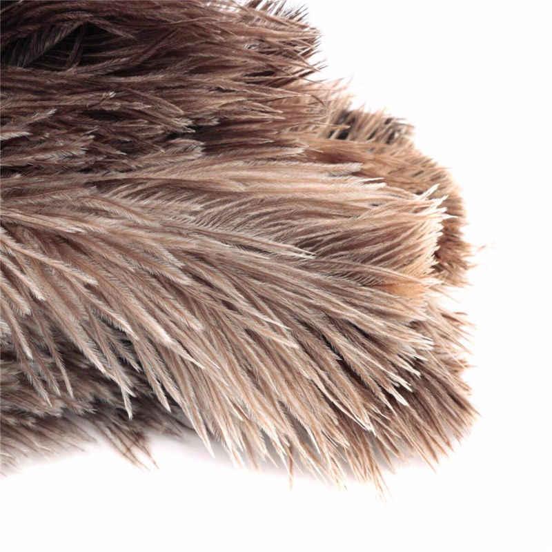 Полезная 20 см Антистатическая натуральный страусовый меховой щетка с перьями кисточка с деревянной ручкой Бытовая Чистящая тряпка для мебели пылесборник