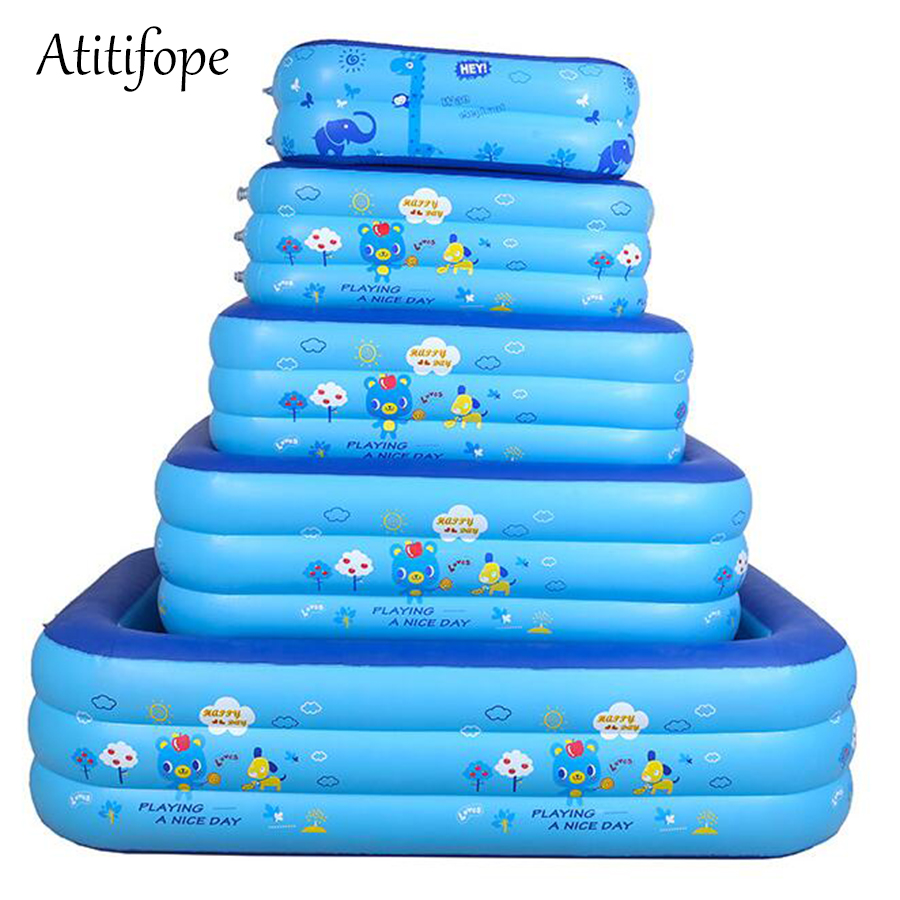 Baby inflatable pool small size can be bath tub big size can be swimming pool good kids birthday gift ball pit for outdoor use