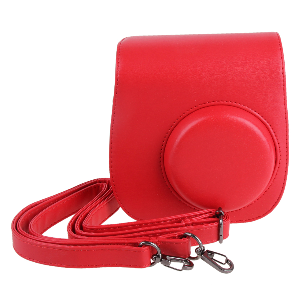 Leather Camera Shoulder Bags Strap Bag Case Cover Pouch Protector For Polaroid Photo Camera Bags For Fuji Instax Mini 8