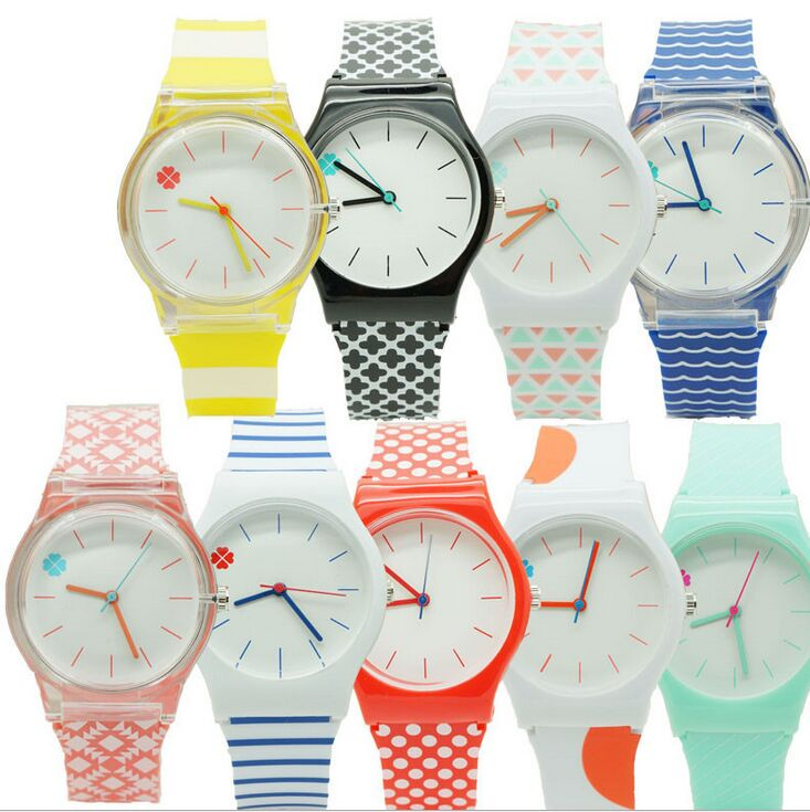 Fashion Silicone Strap High Quality Classic Crystal Watch Cartoon Novelty Student/women Watch