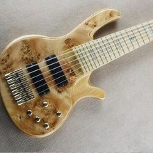 где купить Free shipping  6 strings electric bass guitar  active pickups /electric bass guitar/gold hardware дешево