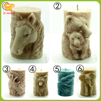 Elephant Cylindrical Candle Pattern Dolphin Candle Tool Bears Soap Mold Horse Shape Cake Dress Diy Candle