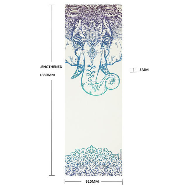 bbbb197869352 NICEGOOD Yoga Mat Printed 5mm PVC Sports Tapete Yoga Fitness Pilates Pads  Double Side Color Environmental