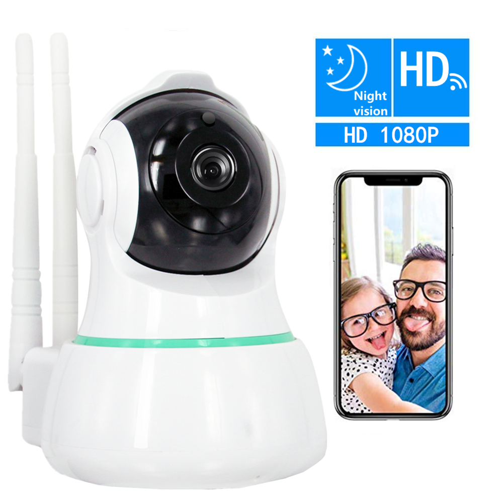 ZILNK 2.0MP 1080P HD Security IP Camera 360 Degree View WiFi Wireless Night Vision IR-Cut Motion Detection Baby Monitor