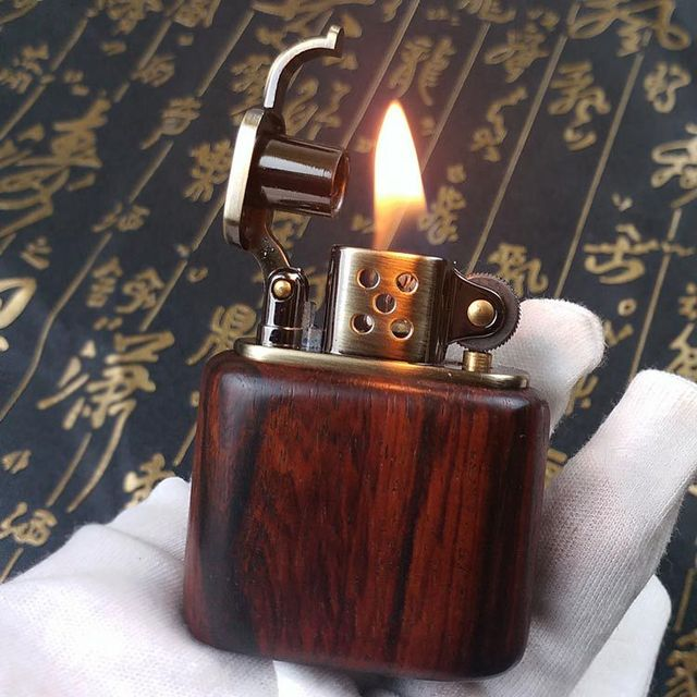 Gasoline Rosewood Vintage Fire Lighter2