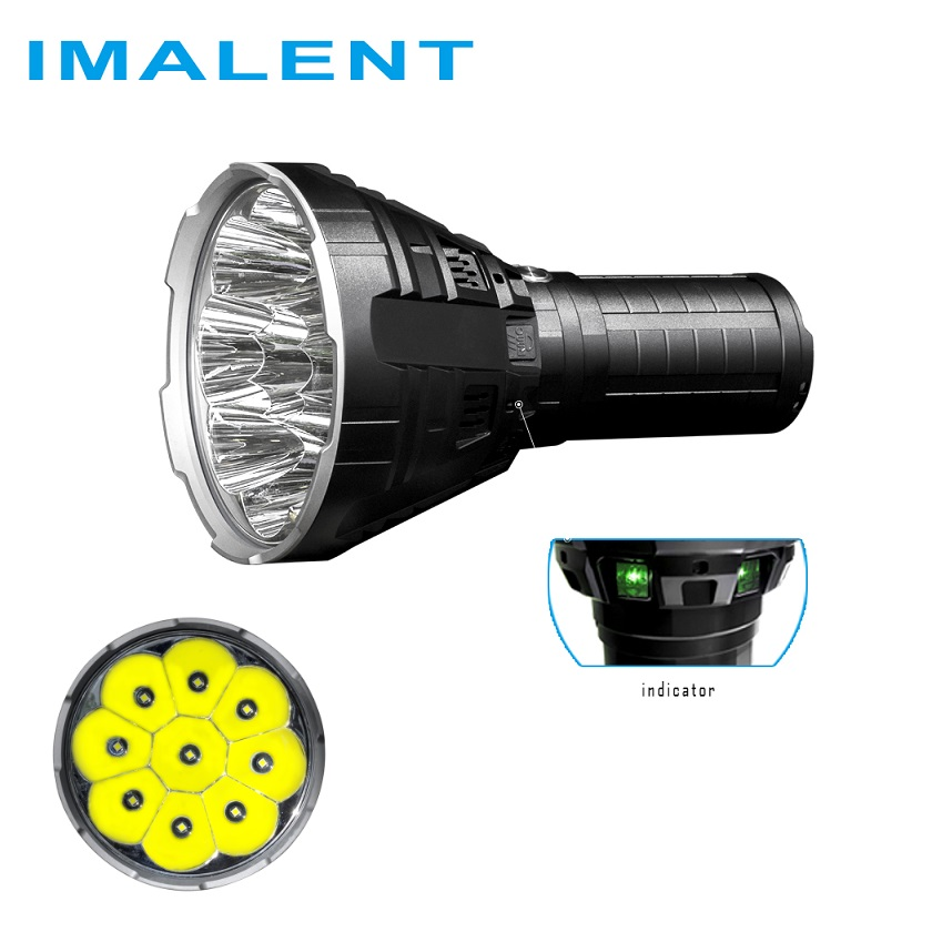 IMALENT R90C Led Flashlight CREE XHP35 HI LED 20000 Lumens 1679 Meters Torch Flash light with Battery for Outdoor Search - 2