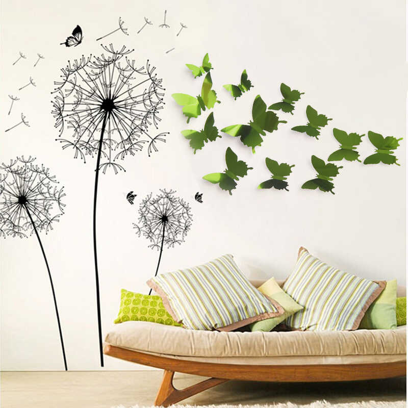 12pcs/lot 3D PVC Wall Stickers Magnet Butterflies DIY Fridge Magnet Stickers Home Decor Poster Kids Rooms Wall Room Decoration