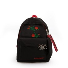 Embroidery Backpack Oriental style Floral School for Teenage Girls Women Fashion Lightweight Leisure Or Travel Bag