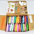 24 Цветов Резиновые Пластилина Глины Play Doh С Tool Kit Пространство Грязи Дети Magic Sand Резинка Пластилин детские Развивающие игрушки
