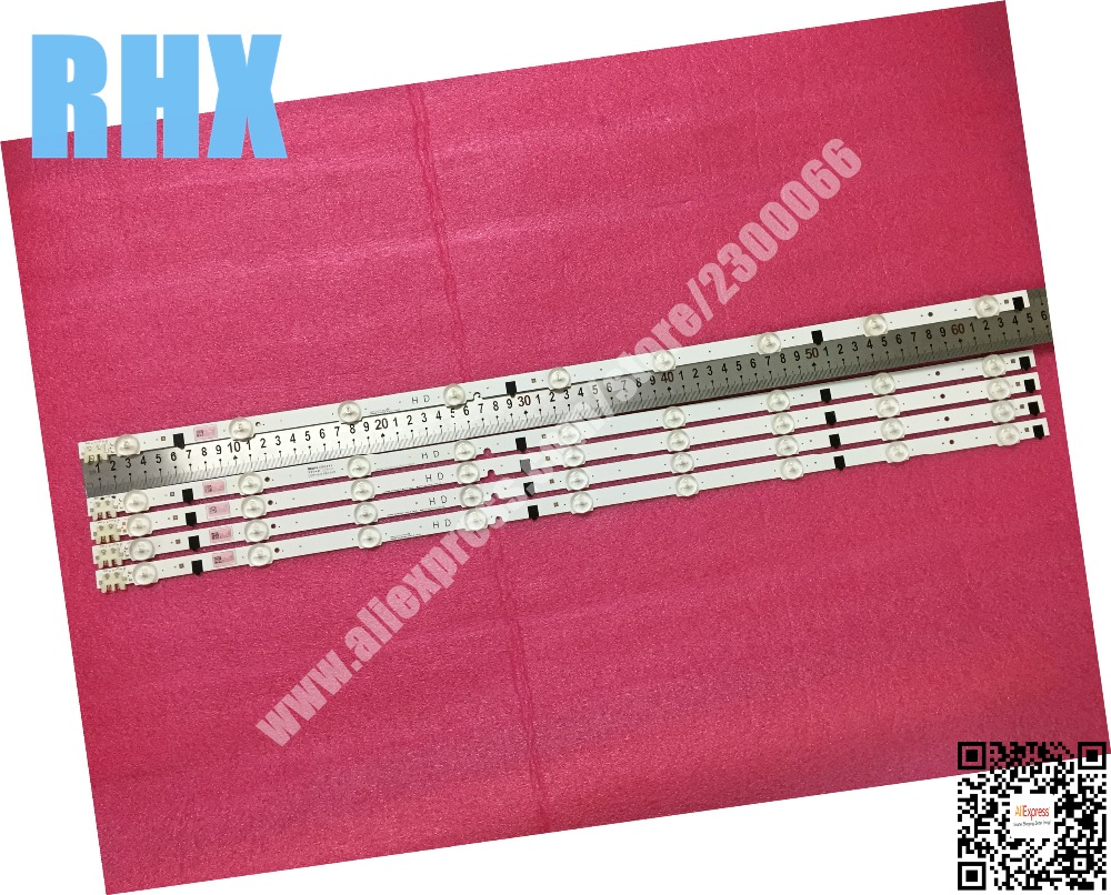 5piece/lot FOR Samsung 32 Inch UA32F4088AR LCD TV LED Backlight D2GE-320SC0-R3 2013SVS32H 9 REV1.8 130103 1piece=9LED 650MM