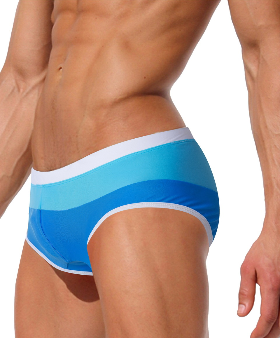 Topdudes.com - Men's Multicolor Bathing Briefs for Sexy Summer