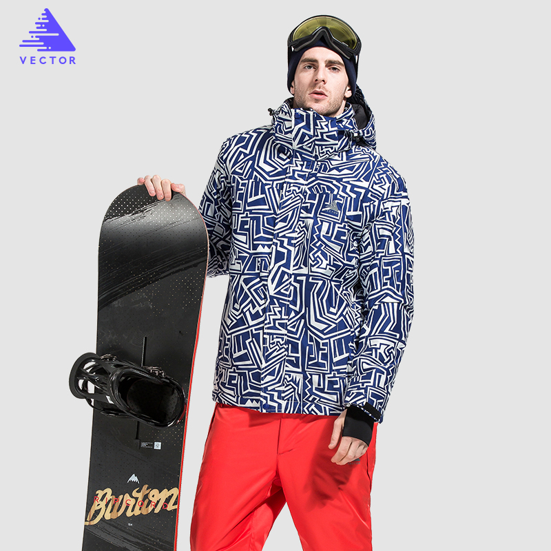 Vector Brand Skiing Jacket Men`s Ski Snowboarding Jackets Winter Ski Jacket Men Waterproof HXF70012 рубашка pepe jeans pepe jeans pe299emzgx02
