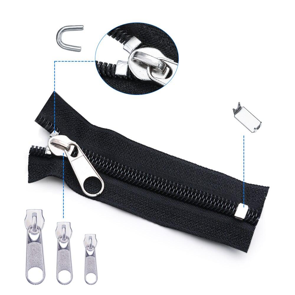 Zipper Fix Kit Universal Zip Repair Rescue Replacement Jacket Clothing Bag Outdoor Tent Fix Instant Plier Sewing Needlework Tool (3)