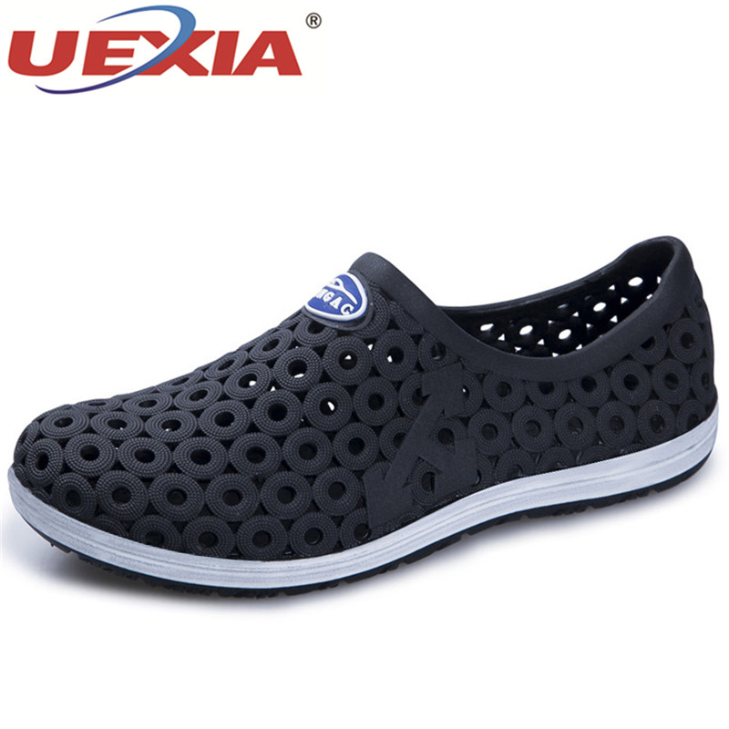 UEXIA 2018 New Men Sandals Summer Soft Comfortable Men Shoes Comfortable Breathable Slippers Fahion Beach Sandalias hombre Shoe