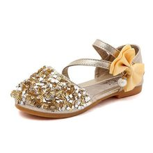 95219bc4678ad Été nouveaux enfants chaussures décontractées en cuir filles princesse talon  plat chaussures de fête de mode