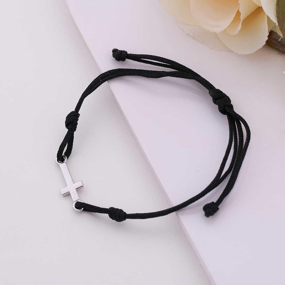 Skyrim fait à la main noeud Religion cordon rouge croix dieu bénisse Bracelet chaîne cire corde chaîne armure mâle et femme pendentif Bracelets