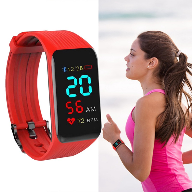 Smart Watch K1 Plus Smart Bracelet Real time Heart Rate Monitor Color LCD Touch Screen PK Miband For IPhone Fitness Tracker Band in Smart Wristbands from Consumer Electronics