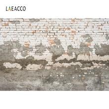 Laeacco Grunge Peeled Brick Wall Scene Photography Backgrounds Custom Vinyl Photographic Backdrops For Photo Studio