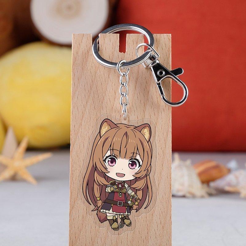 Japanese Anime Tate No Yuusha No Nariagari Cartoon Figure Car Key Chains Holder Best Friend Graduation Chirstmas Day Gift