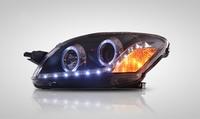 YZ для автомобиля Toyota Vios огни объектив проектора фары сборки Fit 200802013 Глава лампы с Angel Eye огни 2 шт.