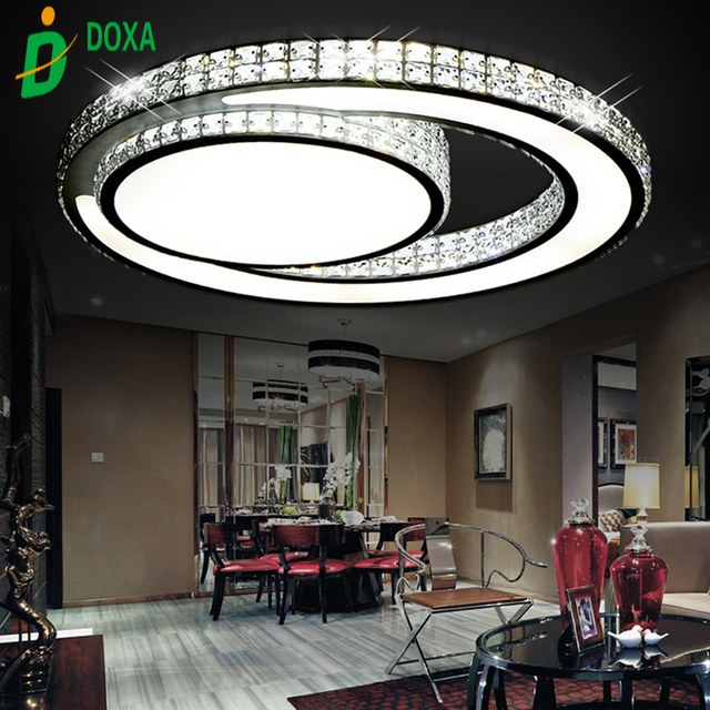 2017 Best Price Modern Led Crystal Ceiling Light 90 260v Lustre Cristal Lamp For