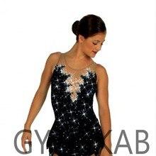 Платье для фигурного катания, женское платье для девочек, платье для фигурного катания, костюм для гимнастики без рукавов 85029