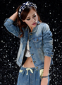 2014 New Women Autumn Spring Fashion Classical Worn-out Loose Cool Long Sleeve Short Jean Jacket Blue