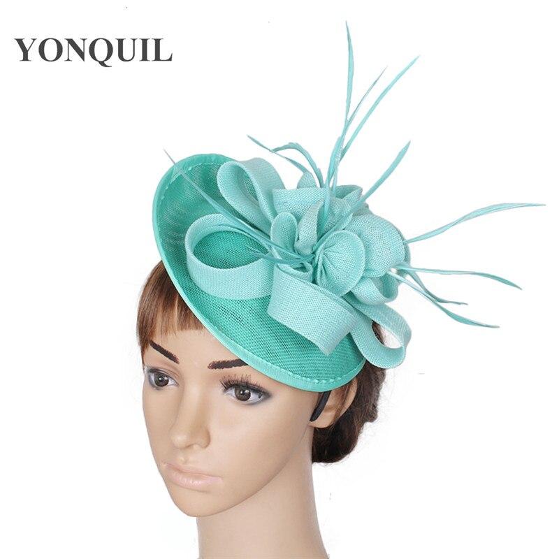emerald green church headwear imitation sinamay fascinators hats ... 64e9c605e5d