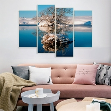 4PCS Natural Landscape Abstract Decorative Pictures Posters and Prints Wall Art Canvas Painting Nordic Home Living Room Decor