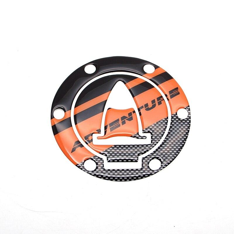 Moto En Fiber De Carbone 3D Adhésif Emblème de Carburant Bouchon Du Réservoir De Gaz Pad Couverture De Protection Decal Stickers Pour KTM 1190 Aventure/R 1290