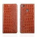 "Crocodile grain genuine leather case para zte nubia z11 mini s 5.2 ""1 Slot Para Cartão de Telefone Celular de luxo Capa & Ímã Invisível"