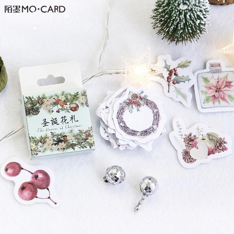 45 Pcs/lot Christmas Garland Mini Paper Sticker Decoration DIY Ablum Diary Scrapbooking X'mas Label Sticker Kawaii Stationery