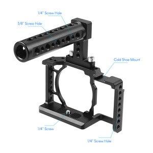 Image 3 - Andoer Kamera Käfig für Sony A6500/A6400/A6300/A6000 Kamera Video Film Film Machen Stabilisator Aluminium Legierung 1/4 zoll Schraube