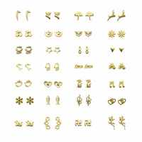 חדש 28 זוגות\סט Brincos גיאומטרי בעלי החיים עגילי פירסינג תכשיטי Bijoux זהב צבע האופנה יד עגיל לב לנשים