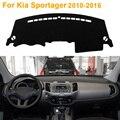 2016 Car Styling Sombra Protectora Dashboard Mat Cojín Pad Photophobism Alfombra Interior Para Kia Sportager 2010-2016