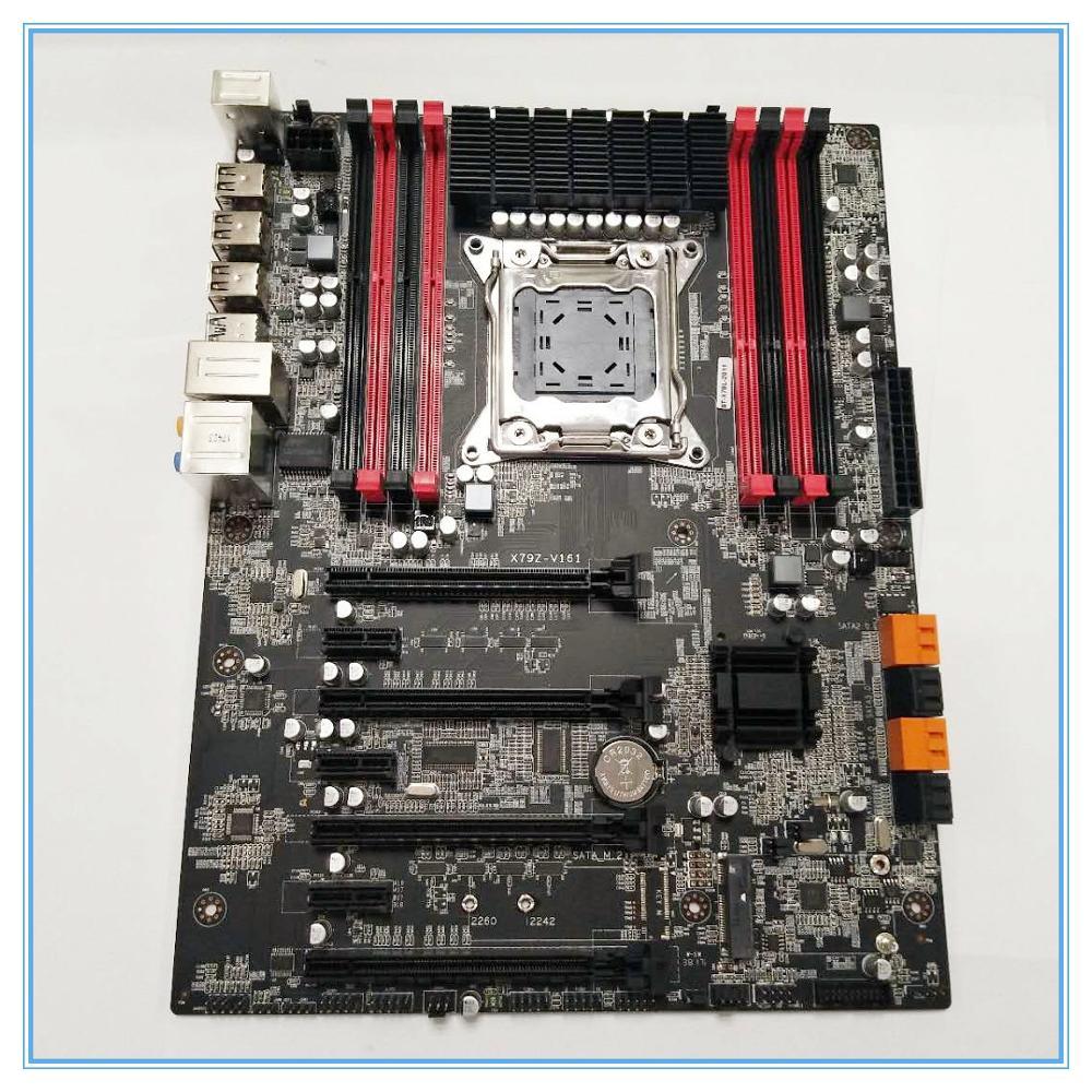 Computer Desktop Motherboard  X79Z-V161 EATX ECC LGA2011 SATA 3.0 USB 3.0 Ports  DDR3 128GB Memory Capacity  Mainboard