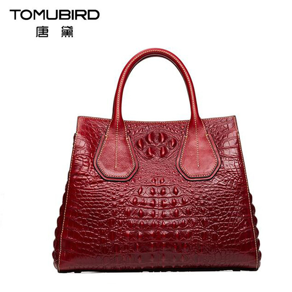Luxury women leather handbags female bag Embossed Crocodile Designer feminine totes with zipper Genuine leather Tote Bag Bolsa crocodile embossed pattern bright colour feminine genuine leather laptop backpack