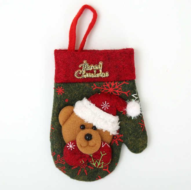 4 шт. Новогоднее Рождественское украшение для домашнего стола декор для ужина милый чехол для столовых приборов ножи конверт для вилок Держатель Карманы Рождественский орнамент