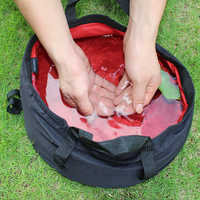Ultra-light 8.5L Portable Folding Washbasin Camping Basin Outdoor Survival Travel Kits Army Tactical Military Hunting Equipment