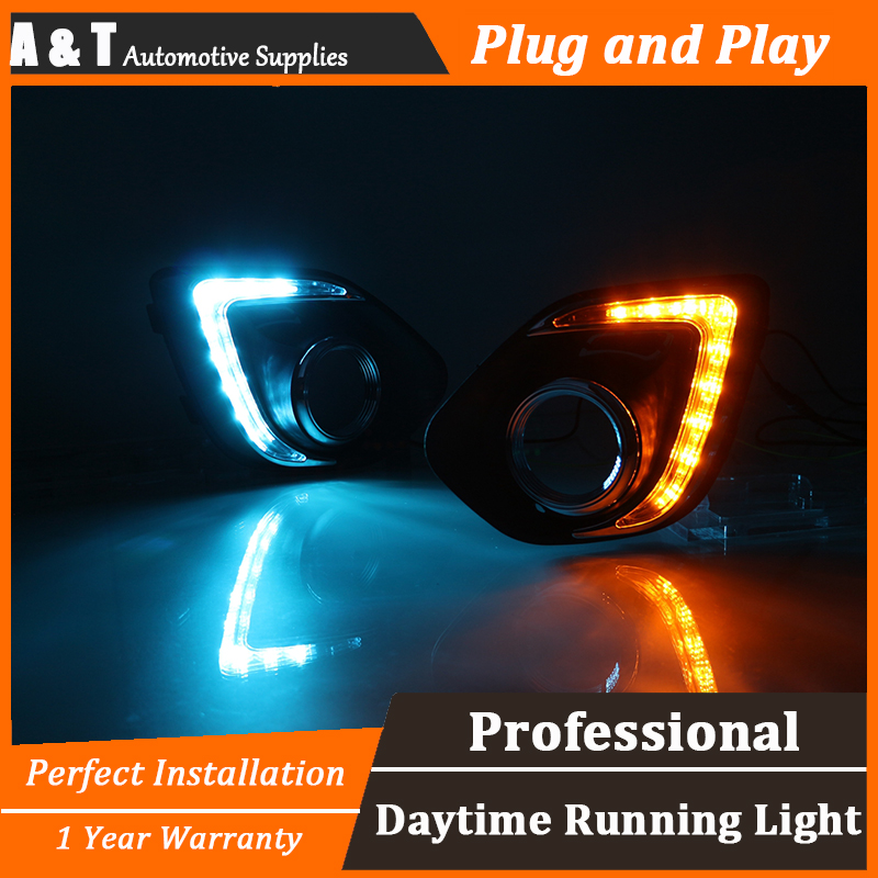 A&T car styling For Mitsubishi ASX LED DRL For ASX led fog lamps daytime running light High brightness guide LED DRL for lexus rx gyl1 ggl15 agl10 450h awd 350 awd 2008 2013 car styling led fog lights high brightness fog lamps 1set