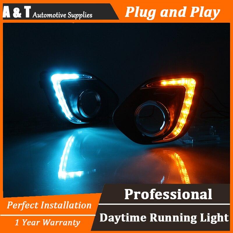 стайлинга автомобилей для Мицубиси ASX СИД DRL для ASX светодиодные противотуманные фары дневного света руководство высокая яркость СИД DRL