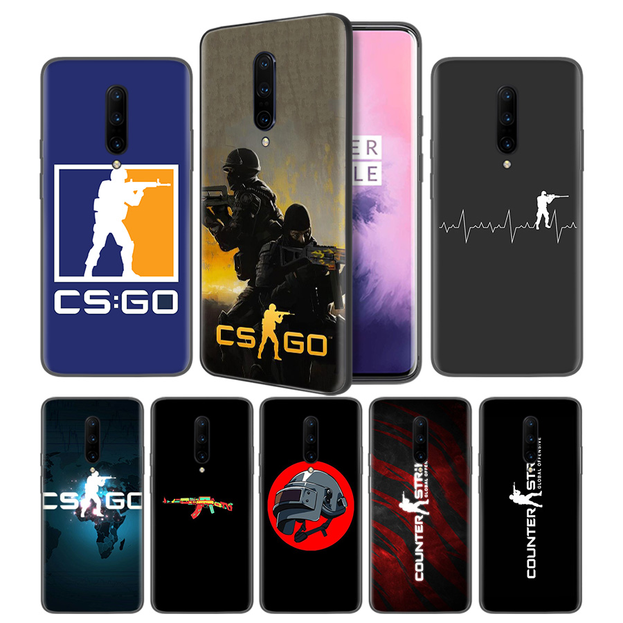 Counter Strike cs go Soft Black Silicone Case Cover for font b OnePlus b font 6
