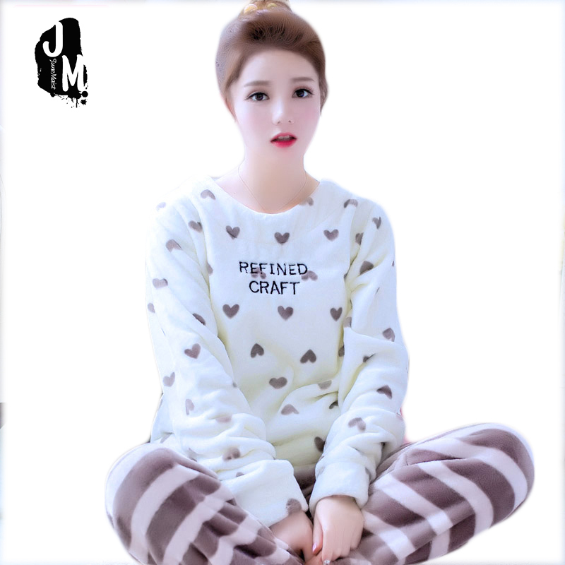 Detail Feedback Questions about Autumn And Winter Women Pyjamas Sets Thick  Warm Coral Velvet Suit Flannel Long Sleeve Female Cartoon Bear Animal Pants  ... 0293ea3ec
