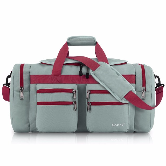 Gonex 45L Men Travel Duffel Gym Sports Luggage Bag Water-resistant Duffel with Shoes Pockets Multifunctional
