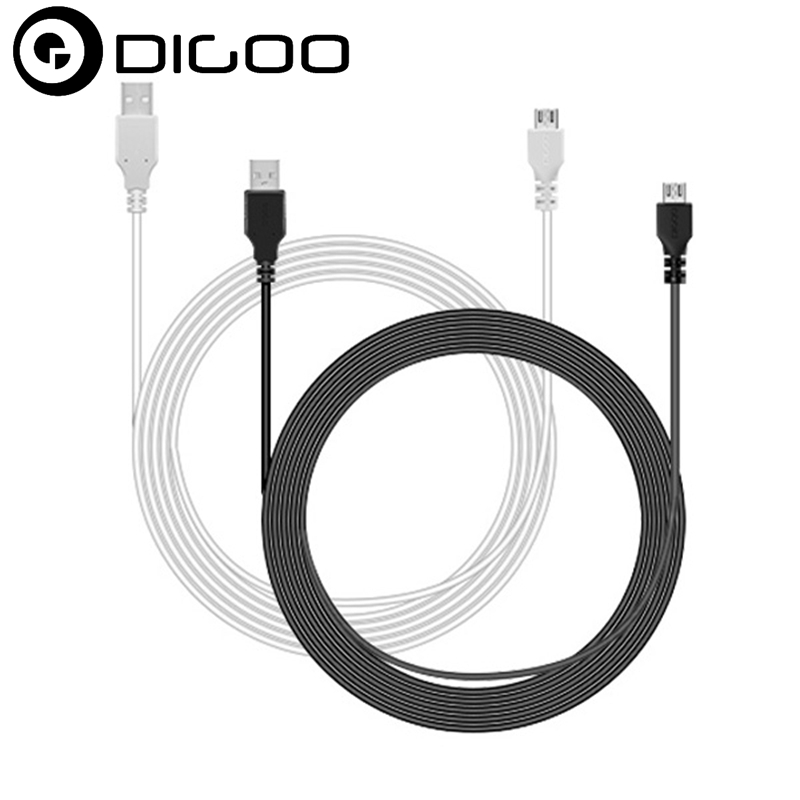 High Quality Digoo DG-BB-13MW 9.99ft 3 Meter Long Micro USB Durable Charging Power Cable Line for IP Camera Device digoo dg bb 2hc durable double head 30cm usb charging power cable for dg mx10 tws wireless waterproof speaker