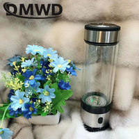 Rechargeable Rich Hydrogen Water Generator electrolysis Energy Hydrogen rich Antioxidant ORP H2 Water Ionizer Glass Bottle cup