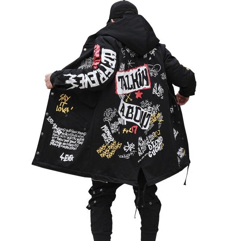 Autunno Inverno Giacca Cappotto Lungo Cina Hanno Hip Hop Star Swag Tyga Cappotti Della Tuta Sportiva Formato Degli Stati Uniti Xs-XL